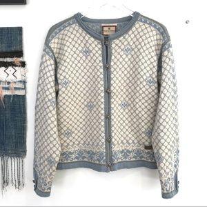 EUC Dale of Norway Fair Isle Wool Sweater Md